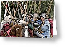 The Clash Of The Pikemen Greeting Card