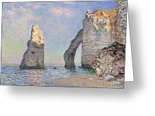 The Cliffs At Etretat Greeting Card