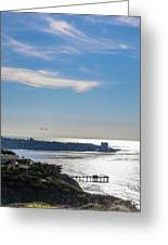 The Cliffs, Ocean And Sky At La Jolla, California Greeting Card