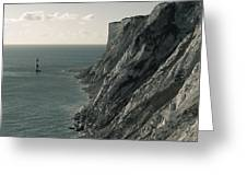 The Cliffs Of Beachy Head And The Lighthouse Greeting Card
