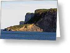 The Cliffs Of Forillon  Greeting Card