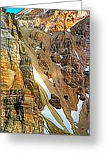 The Climb To Abbot's Hut - Paint Greeting Card