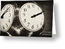 The Clock At Grand Central Greeting Card