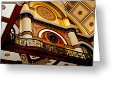 The Clock In The Union Station Nashville Greeting Card