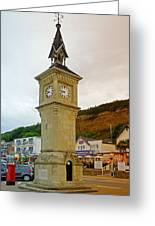 The Clock Tower At Shanklin Greeting Card