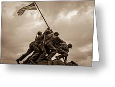 The Clouds Over Iwo Jima Greeting Card