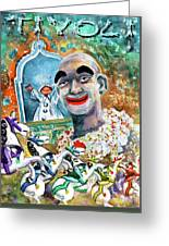 The Clown Of Tivoli Gardens Greeting Card