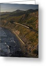 The Coast Starlight Train Snakes Greeting Card by Phil Schermeister