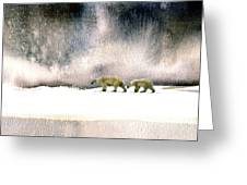 The Cold Walk Greeting Card