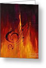 The Color Of Music Greeting Card