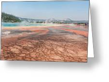 The Colorful Grand Prismatic Spring Greeting Card