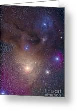 The Colorful Region Around Antares Greeting Card