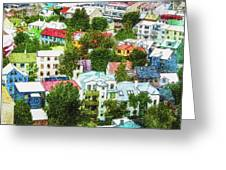 The Colors Of Reykjavik Greeting Card