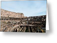 The Colosseum Colosseo Ruins Of The Gladiators Stadium Rome Italy Greeting Card