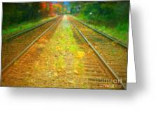 The Colour Along The Tracks Greeting Card
