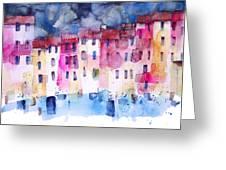 The Coloured Houses Of Portofino Greeting Card