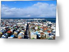 The Colours Of Reykjavik Greeting Card