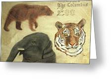 The Columbus, Oh Zoo Greeting Card
