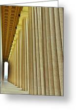 The Columns At The Parthenon In Nashville Tennessee Greeting Card