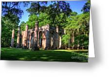 The Columns Old Sheldon Church Ruins Greeting Card
