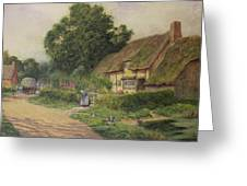 The Coming Of The Haycart  Greeting Card by Arthur Claude Strachan