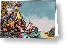The Coming Of The Vikings Greeting Card