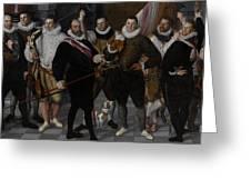 The Company Of Captain Dirck Jacobsz Rosecrans And Lieutenant Pauw, Amsterdam Greeting Card