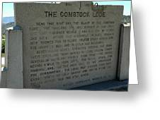 The Comstock Lode Marker Greeting Card