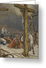 The Confession Of Saint Longinus Greeting Card by Tissot