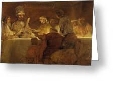 The Conspiracy Of The Batavians Under Claudius Civilis Greeting Card