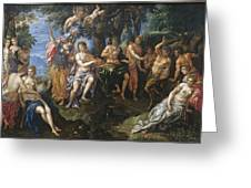 The Contest Between Apollo And Pan, 1600 Greeting Card