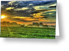 The Cornfield Dawn The Iron Horse Collection Art  Greeting Card