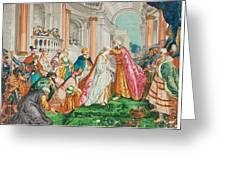 The Coronation Of Esther Greeting Card