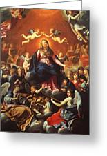 The Coronation Of The Virgin 1626 Greeting Card