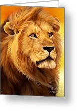 The Courageous Cecil - African Lion Greeting Card