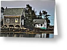The Cove At Dusk Greeting Card