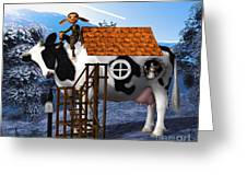 The Cow House Greeting Card