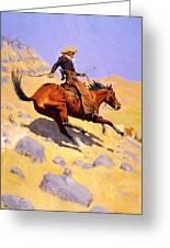 The Cowboy 1902 Greeting Card