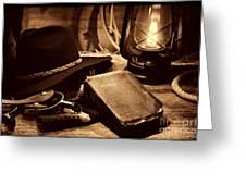 The Cowboy Bible Greeting Card