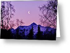 The Crescent Moon In Lavender Greeting Card