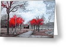 The Crimson Trees Greeting Card