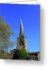 The Crooked Spire Of St Mary And All Saints Church, Chesterfield Greeting Card