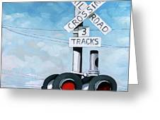 The Crossing - Train Signals Greeting Card