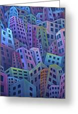 The Crowded City Greeting Card