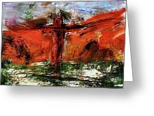 The Crucifixion #1 Greeting Card by Michael Lucarelli