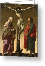 The Crucifixion With The Virgin And Saint John Greeting Card