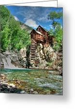 The Crystal Mill In Crystal Colorado Greeting Card