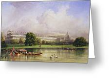 The Crystal Palace Seen From The Serpentine Greeting Card