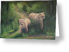 The Cubs Of Katmai Greeting Card