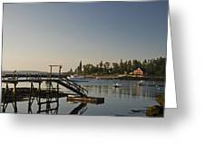 The Cuckolds Lighthouse From Newagen  Maine Greeting Card